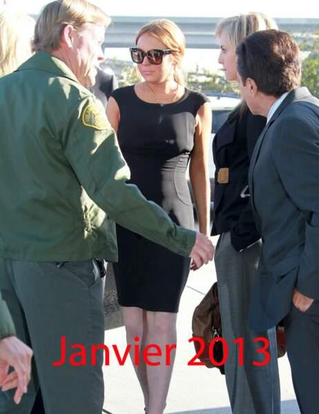 Lindsay Lohan  janvier 2013