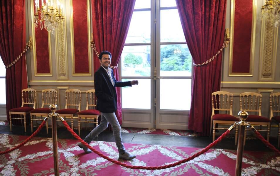 Jamel Debbouze dans les couloirs de l'Elysée