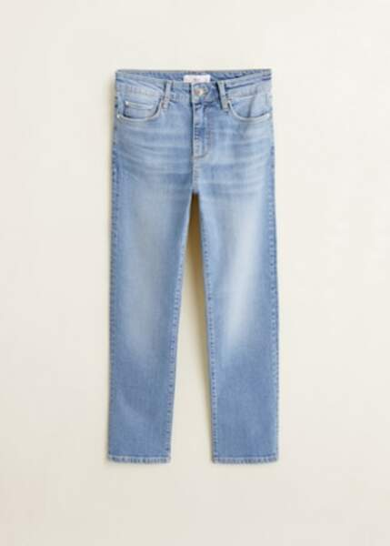 Jean straight délavé moyen, Mango, 39,99€