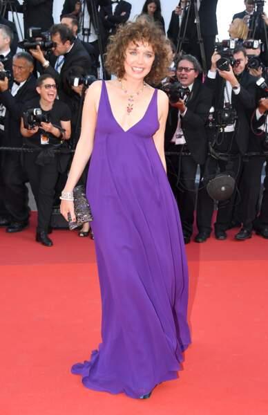 Cannes - Montée des Marches pour le 70ème anniversaire : Valeria Golino