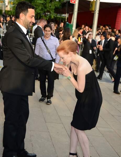 Riccardo Tisci et Jessica Chastain