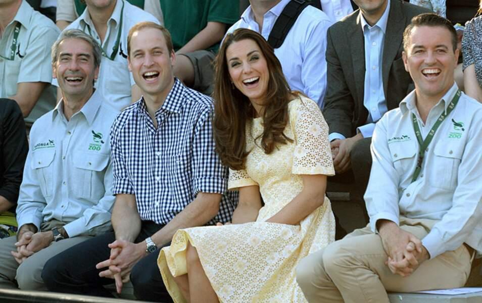Qu'est-ce qui amuse autant Kate et William ?