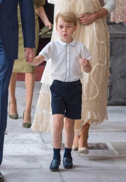 Anniversaire du Prince George - Il ne faut pas trop lui en conter, ce qu'il préfère c'est les grimaces