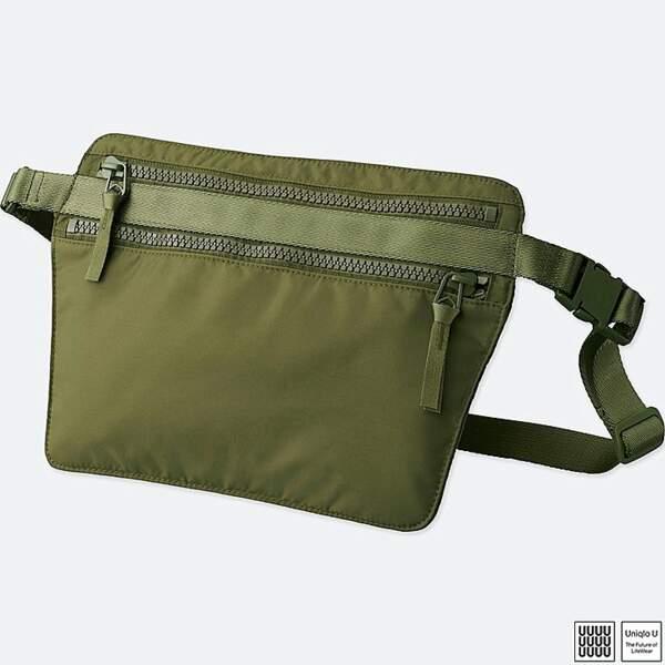 Le retour du sac banane : Sac couleur olive, Uniqlo U, 29,90 euros