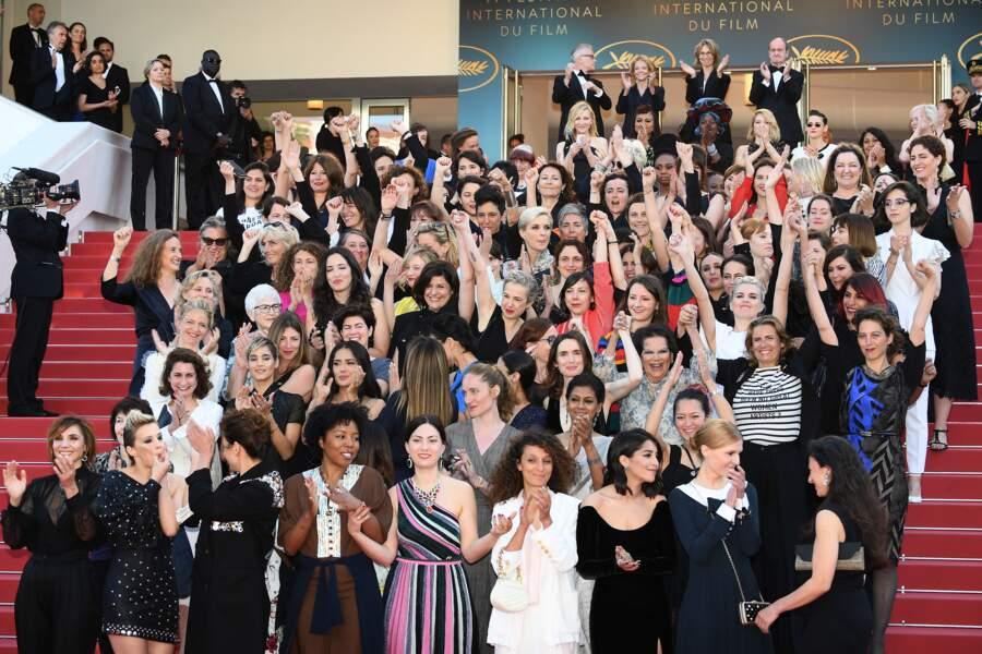 82 actrices sur les marches, comme le nombre de réalisatrices à avoir présenté un film au festival