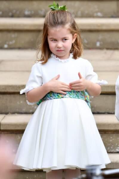 Comme à son habitude, la princesse Charlotte a offert aux convives de mythiques grimaces.
