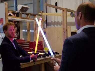 Les princes William et Harry s'éclatent comme des gamins sur le tournage de Star Wars
