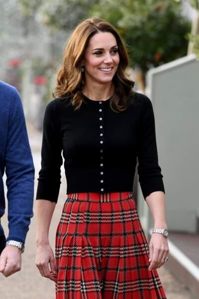 Kate Middleton est sublime dans sa longue jupe à imprimé tartan