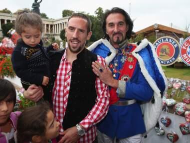 Franck Ribéry et ses enfants à la fête de la bière