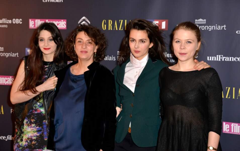 Judith Chemla, Noémie Lvovsky, Julia Faure et India Hair