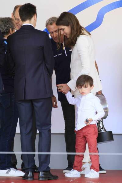 Formule E à Monaco : Charlotte Casiraghi et son fils Raphaël Elmaleh