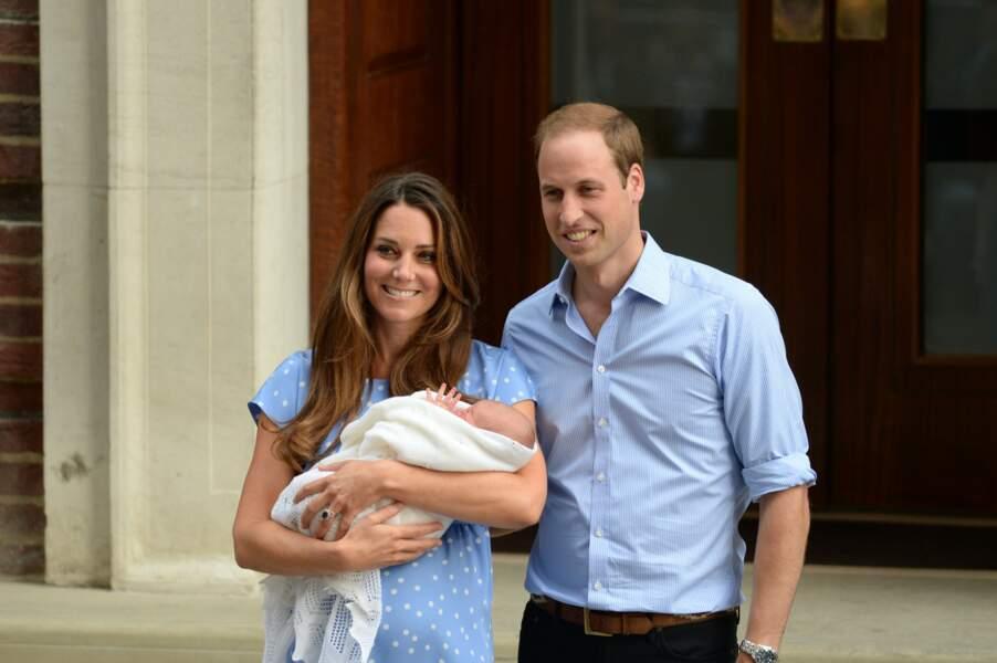 Présentation officielle du prince George, le 23 juillet 2013