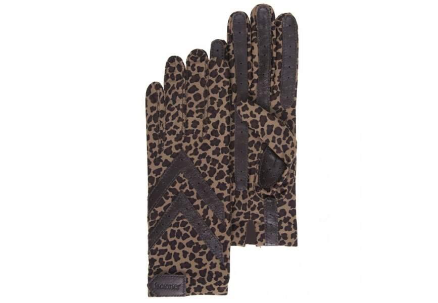 Gants léopard, Isotoner, 22,90€