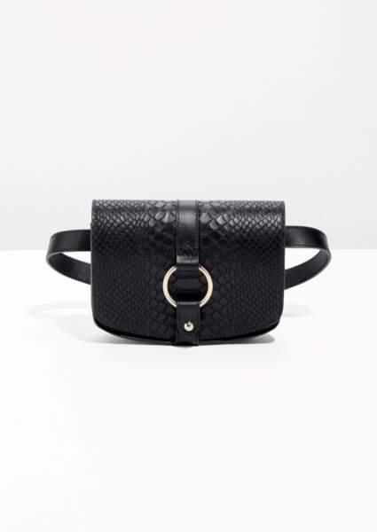 Le retour du sac banane : Sac ceinture en cuir texturé, And other stories, 69 euros