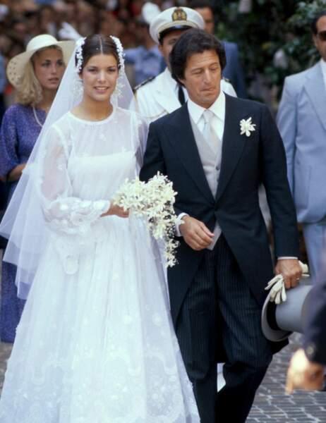Caroline de Monaco et son premier mari, Philippe Jugnot