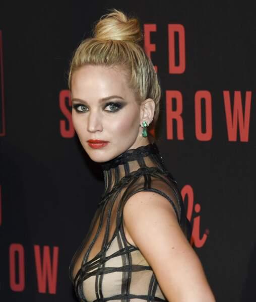 Jennifer Lawrence à l'avant-première new-yorkaise du film Red Sparrow