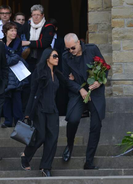 Obsèques de Maurane à Woluwe-Saint-Pierre en Belgique : Anggun