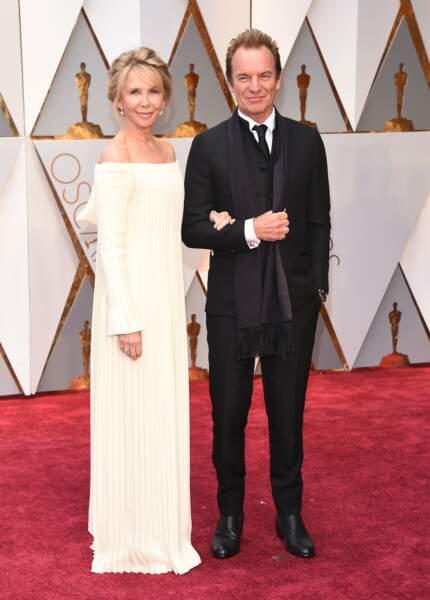 Les plus beaux couples des Oscars 2017 : Sting et Trudie Styler