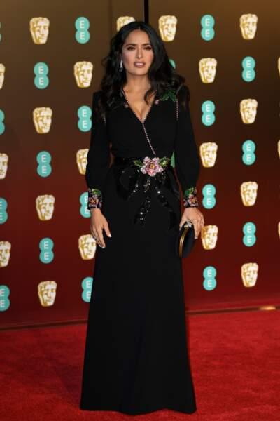 Salma Hayek aux BAFTA Film Awards 2018 à Londres, le 18 février