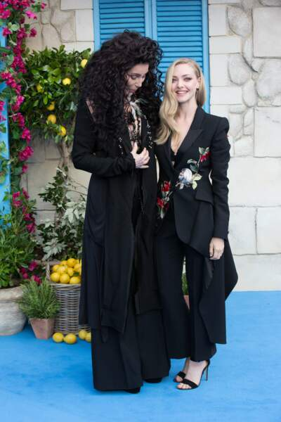 Cher et Amanda Seyfried à l'avant-première de Mamma Mia 2 à Londres, le 16 juillet