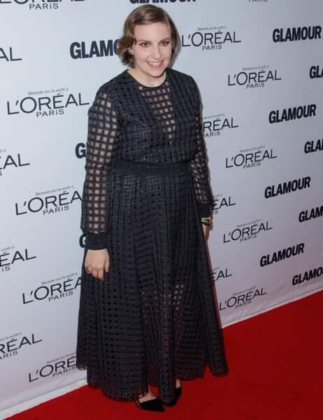 L'actrice américaine Lena Dunham