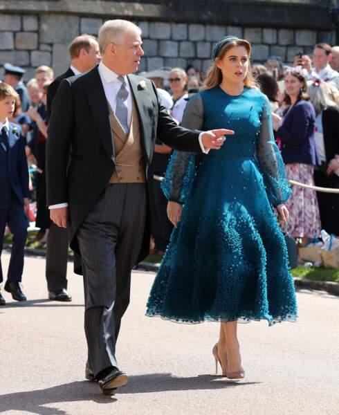 Le prince Andrew et la princesse Beatrice