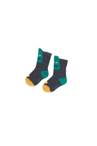 Paire de chaussettes. En coton, 5,99 euros le lot de 5 chaussettes, Tex de Carrefour