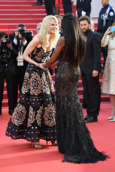 Cannes - Montée des Marches pour le 70ème anniversaire : Nicole Kidman & Naomi Campbell