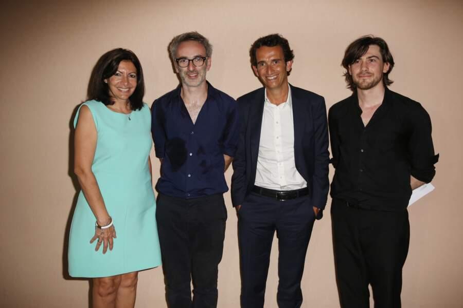 La maire de Paris Anne Hidalgo, Vincent Delerm et Alexandre Bompard