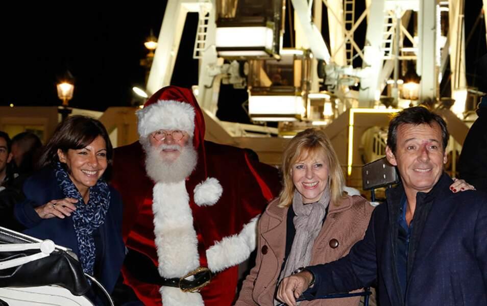C'était aussi l'inauguration du marché de Noël des Champs-Elysées