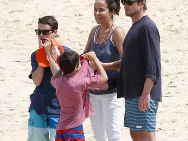 Simon Baker en famille à Bondi Beach