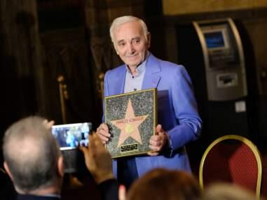 Charles Aznavour a reçu une étoile d'honneur à Hollywood