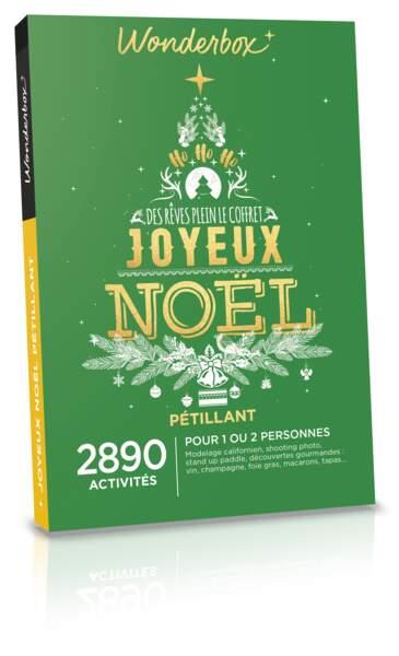 Coffret Joyeux Noël. 29,90€, Wonderbox.