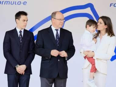 Charlotte Casiraghi et son fils Raphaël Elmaleh lors de l'ePrix de Monaco