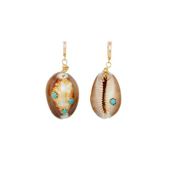 Boucles d'oreilles coquillage, Brinker & Eliza, env 92€