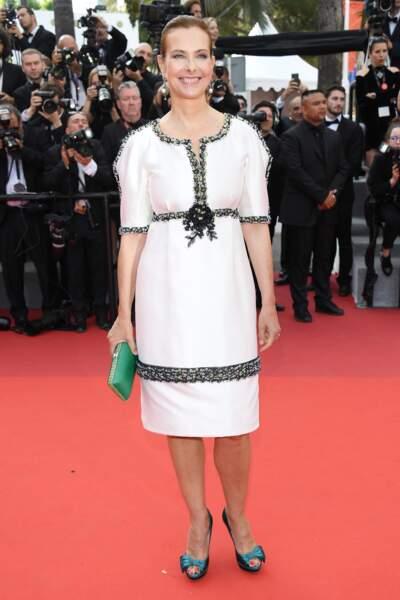 Cannes - Montée des Marches pour le 70ème anniversaire : Carole Bouquet