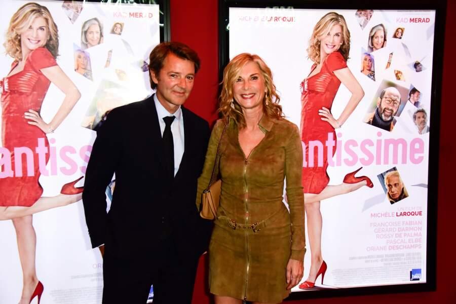 Michèle Laroque et François Baroin à l'avant-première du film Brillantissime, Paris