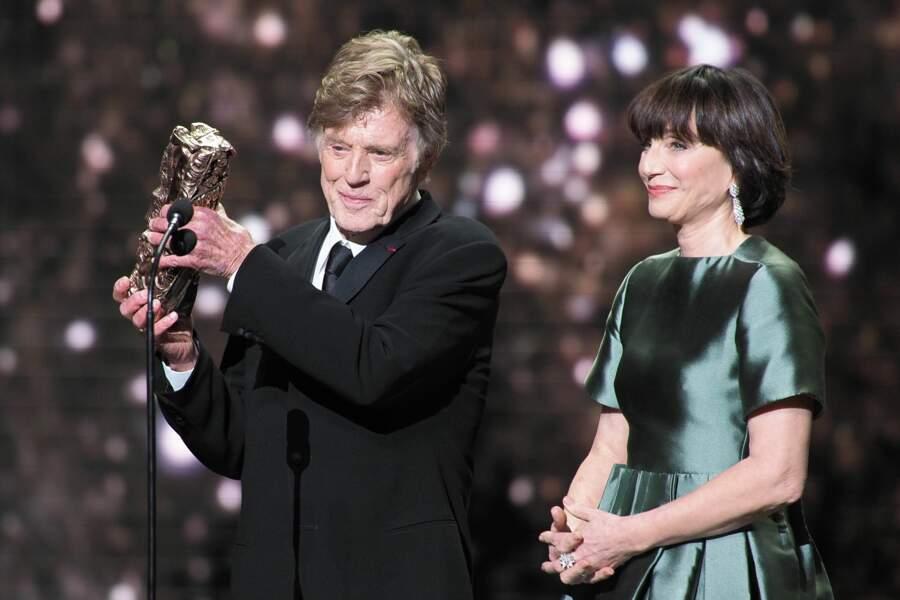 Kristin Scott Thomas, présidente de cette édition 2019, a remis un César d'honneur au légendaire Robert Redford