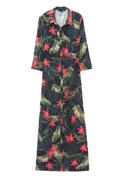 Etam. Robe chemise à imprimé floral Pasada, soldée 39 € (au lieu de 59,99 €)