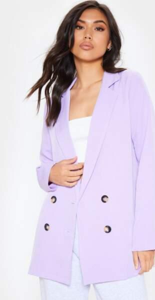 Veste blazer oversize, PRETTYLITTLETHING, 58€