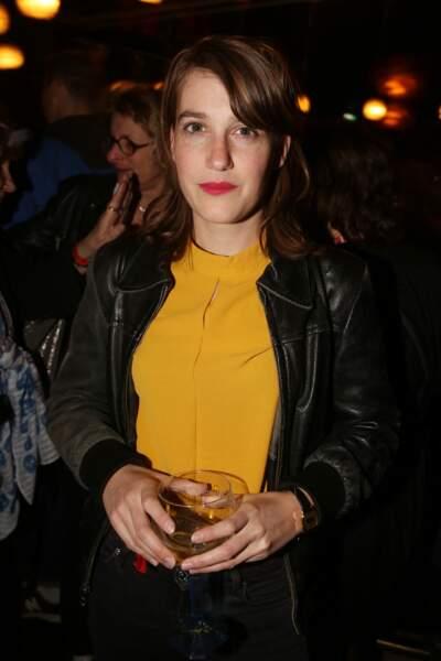 Fanny Sidney à la fête de fin de tournage de la saison 3 de Dix pour cent, le 25 avril à Paris