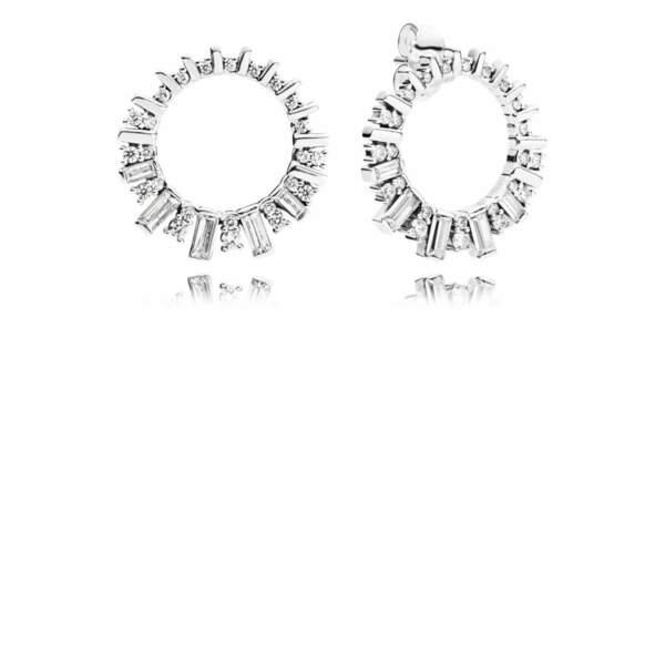 Boucles d'oreilles beauté glaciale en argent, Pandora, 79€