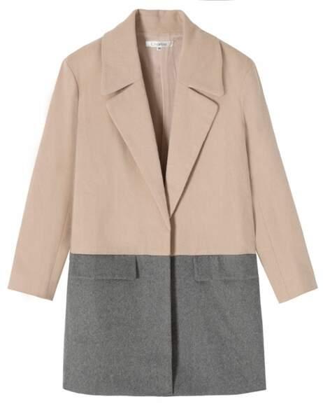 Manteau bicolore, 99€, Charlise