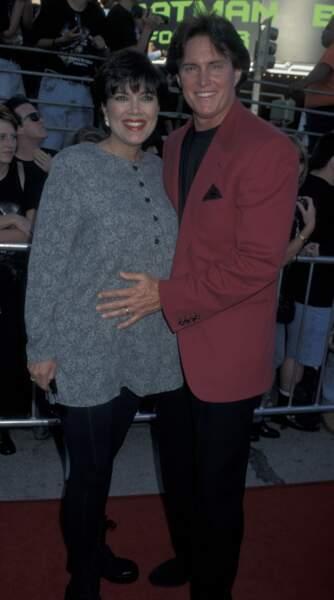 En 1995 : dans son ventre, c'est Kendall