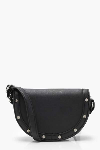 Semi circle saddle bag, Boohoo, 13 euros au lieu de 24 euros