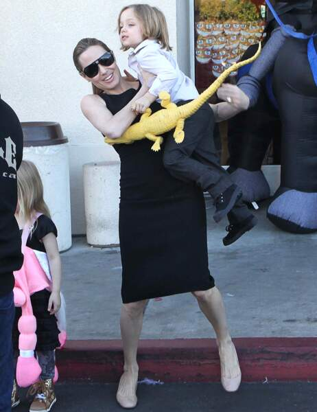 Angelina Jolie et Knox Jolie-Pitt