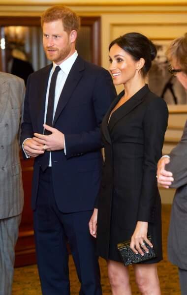 Meghan Markle et le prince Harry assistent à la comédie musicale Hamilton, Londres