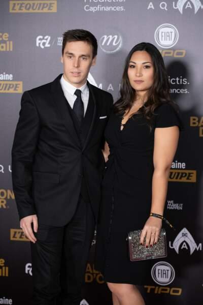 Louis Ducruet et Marie Chevallier à la cérémonie du 63e Ballon d'Or