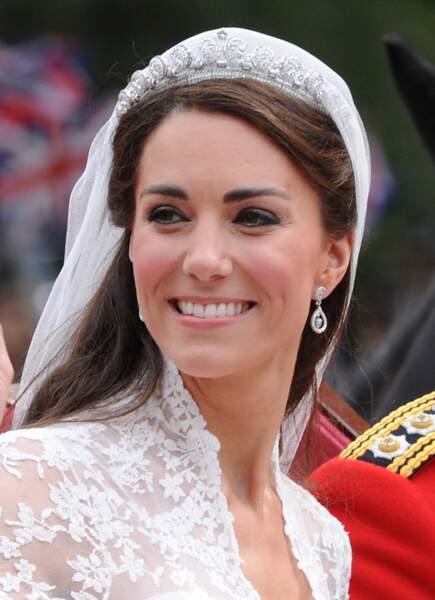 La tiare portée par Kate Middleton lors de son mariage avec le prince Charles