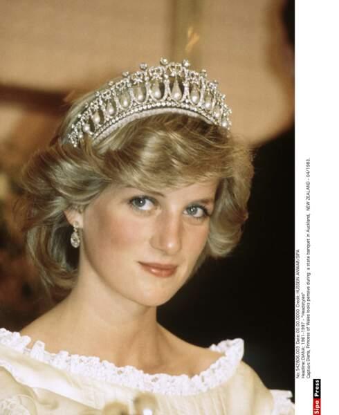 Lady Di et sa tiare favorite en 1983